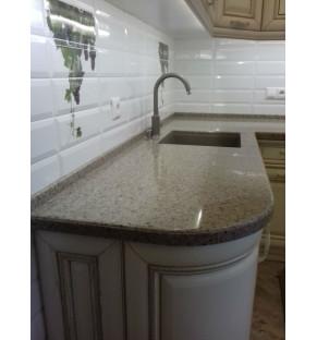 Столешница в кухне Tristone, цвет В-001 (Spodumine)